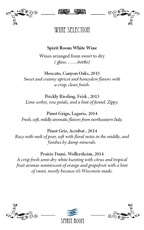 White Wine Page 1 Fall 2016