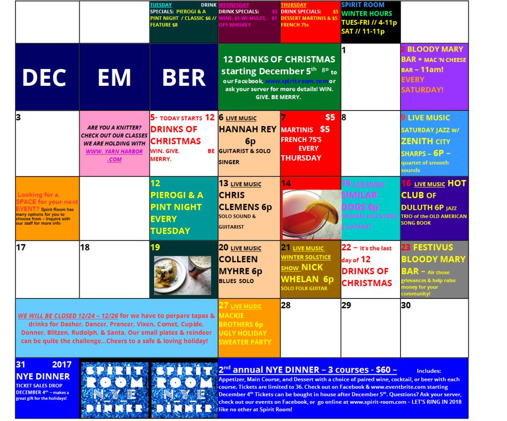 December 2017 Calendar JPEG