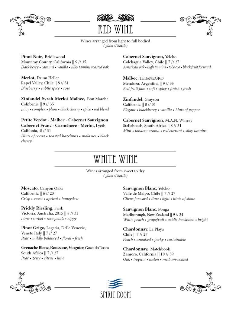Spirit Room Red Wine 2018